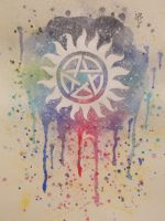 Anti-Possession Symbol by Color-Droplet