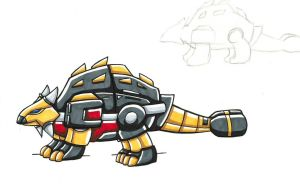 Transformers G1 Squelch Dino Mode by toonartist