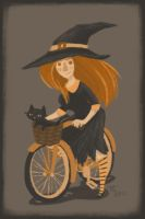 Witch On A Bicycle by Ceydran