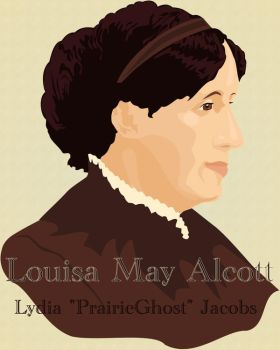 Louisa May Alcott by coyoteflutesong
