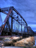 Old Train Bridge - HDR by Torqie