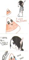 I hate you, Candy Corn by Vampenxwitch