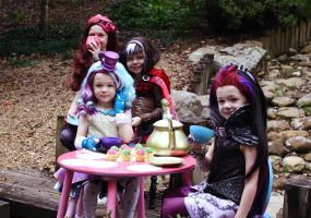 Ever After High tea party by cimmerianwillow