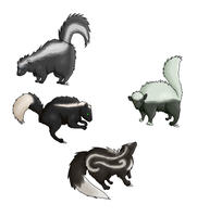 Skunk Adoptables (4/4 open) by HollowThinker