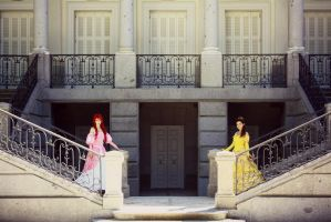 Belle and Ariel ~ Sharing dreams by kokoammm