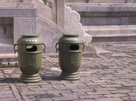 Waste Bins or Armos? by LateRose225