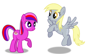 Request - Cherry Pie and Derpy Hooves by DrFatalChunk