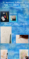 Markers' tutorial - Elsa by Poppysleaf