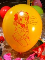 Balloon's girl (Handdrawing on the balloon) by Solatokimi