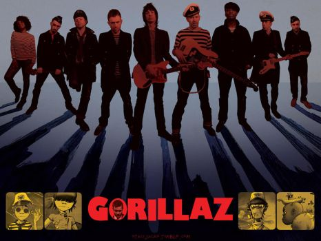 Gorillaz by Stassiana