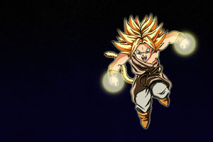 Kid Broly SSj in space by Say4