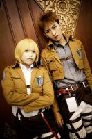 SnK: Armin And Jean by kazuhyun