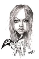 Avril Lavigne Caricature by ImRoGeR