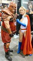 Jugghead at Pcc with Power girl by wiler11