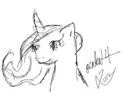 Celestia Sketch by orcakat4