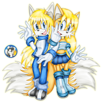 .:Twin sisters:. by Blacky-Doll