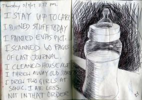 baby bottle in my journal by theartproject