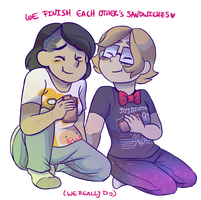 we finish each other's sandwiches by snaximation