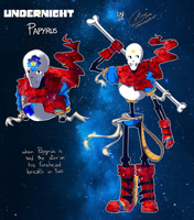 Undernight - Papyrus by LunaIsAnArtist