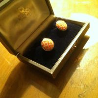 Mark's Cufflinks - a Gift Awaiting Presentation by heatherdrefke