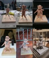 communist red panda sculpting process by vermilionalice