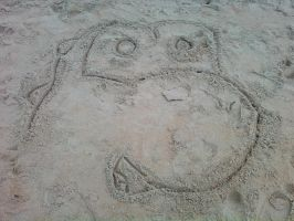 Yoshi in the Sand by iKYLE