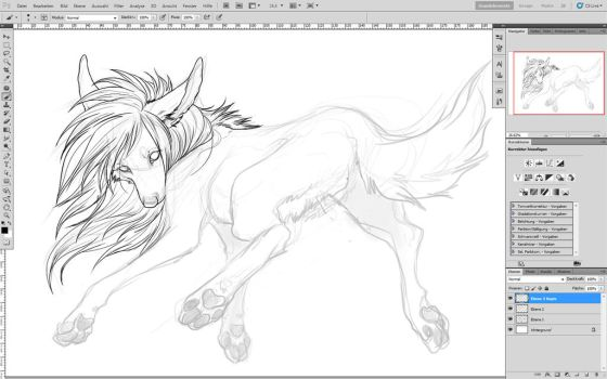 floating WIP by WhiteSpiritWolf