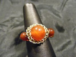 persian sphere carnelian multi bead ring by BacktoEarthCreations