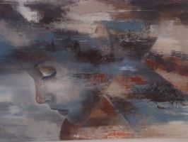 Tender thoughts 80x120 by riakooistrapaintings