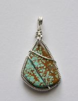 No 8 Turquoise pendant by lamorth-the-seeker