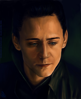 Sad Loki by AnnikeAndrews