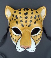 Golden Jaguar Leather Mask by merimask