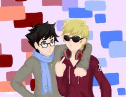 HOMESTUCK : John and Dave by UmbrielUtopia