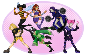 Titan Gals - Print by KingsCorner