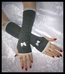 London Fog Lolita Arm Warmers by ZenAndCoffee