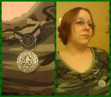 Tatsuya with Silver and Blue Cthulhu War Medal by Windthin