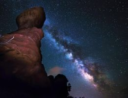 Milky Way Rising over Balanced Rock by TPextonPhotography