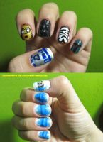 Star Wars Nails by tharesek