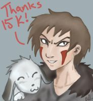 Kiba-15 K A BIG THANKYOU by darkwater-pirate