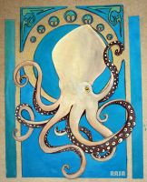 Art nouveau octopus by lemontaste