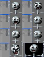 3D study in Facial Expressions by radicalein