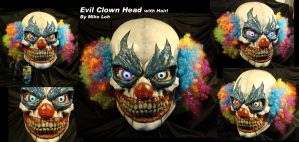 Evil Clown Head with Hair by Uratz-Studios