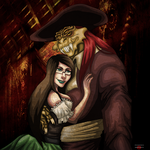 Captain Nathaniel Flint and Jessica by AngelKiller666