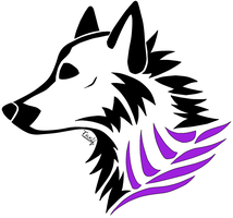 Tribal wolf purlpe black by Tsukihowl