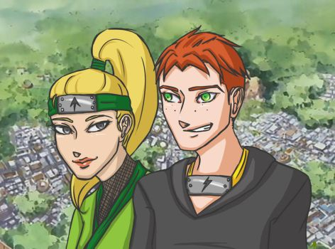 Ninja Couple - Day 2 by hinote-ookami