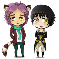 Chibi - Xavier and Neo by rosy-chan-san