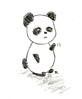 Panda Greetings by ChiuuChiuu
