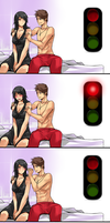 Traffic light by Exaxuxer