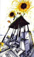 sunflower city by Saffy-in-the-Clouds