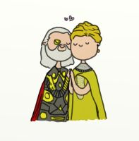 Frigga and Odin by bababug